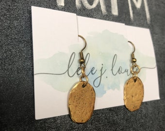 Gold Charm Earring