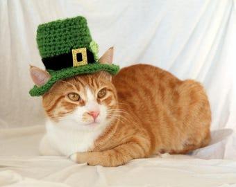 Leprechaun Cat Hat, St. Patrick's Day Hat for Cats, St Patricks Day Cat Accessory, Leprechaun Hat for Cats, St. Patrick's Day Pet Photo Prop