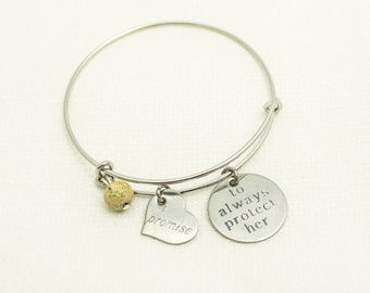 Sister In Law Gift | Best Friend Gift | Charm Bracelet | Bangle Bracelet | Mother of the Bride | Mother of the Groom | Bridesmaid Gift