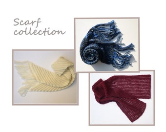 pdf scarf knitting pattern collection, easy scarf patterns
