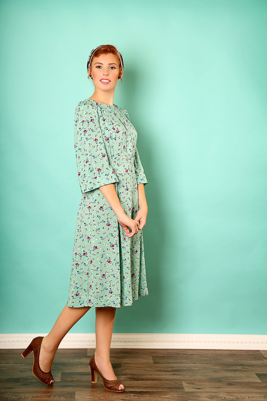 Mitte längenkleid Urlaub Viskose Kleid Tee längenkleid