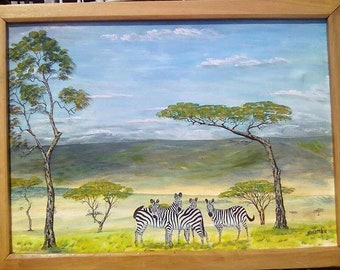 Zebras pose