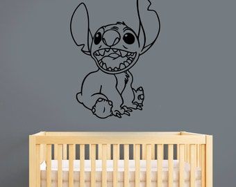 Stitch Wall Sticker Vinyl Decal Disney Wall Art Decorations for Home Housewares Kids Girls Room Bedroom Nursery Cartoon Decor lis3