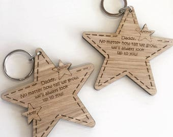 Star Key ring, personalised key ring, matching key rings, gift idea, his and hers