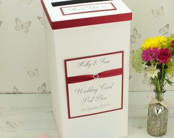 Crystal Heart Wedding Post Box