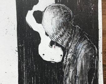 Smoking demon - original art