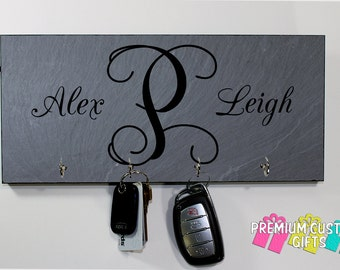 Wall Keyholder- on MDF - Personalized Wall Rack Key Hanger- Anniversary - Housewarming Gift - Design #KH187