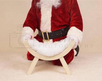 DIGITAL Newborn Backdrop Christmas Santa. One of a kind prop!