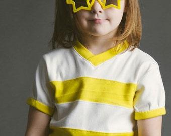 V-Neck T- Shirt PDF Sewing Pattern Boy Girl Toddler 18m 2T 3T 4T 5 6 7 8