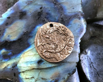 Andrew Thornton Dragon Coin/Pendant (BRONZE)
