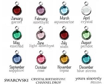 Add On Swarovski Birthstone Crystal Charm