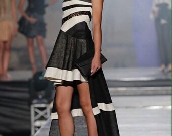 WOMAN EVENING GOWN, Evening Dress, Hemp Dress, Formal Dress, Natural dress,  Eco-Friendly Dress, Haute Couture made in Italy, Italian dress