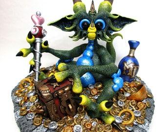 MD CLASSIC PHOTOPRINT- Green Treasure Dragon
