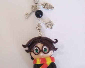 Harry potter polymer clay keychain