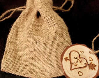 Personalized Ornament, Rustic Wood Ornament, Engraved Ornament, Christmas Ornament, Holiday Ornament, Keepsake, Rustic Ornament,  Gift Bag