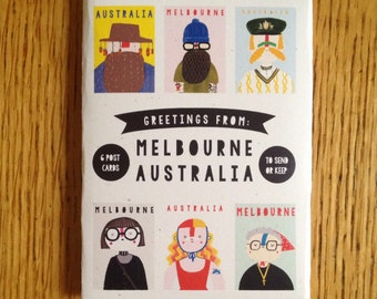 Birthday Cards Melbourne ~ Paper ephemera etsy au
