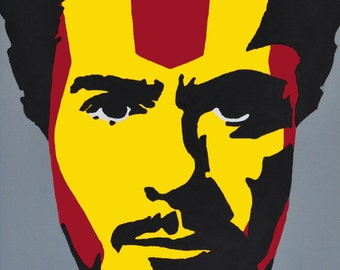 Robert Downey Jr Ironman Mark 1 painting print