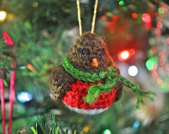 Christmas Robin Crochet Christmas Ornament