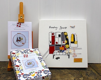 Bloomsbury Squares '1960' Embroidery Kit