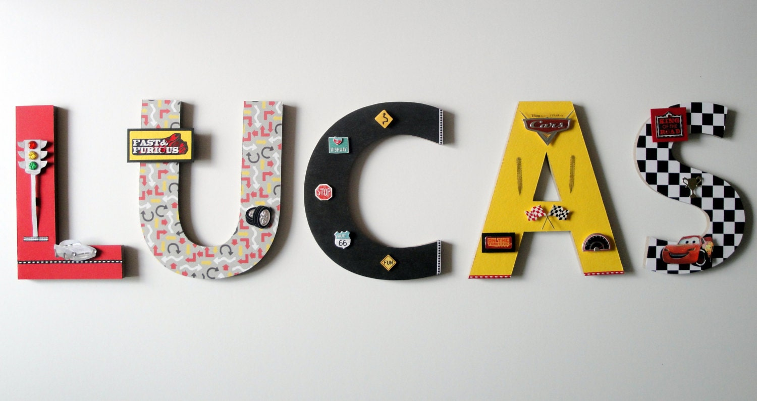 Surf Themed Bedroom Disney Cars Wall Letters Custom Wall Letters Disney Cars