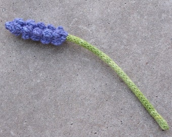 Lavender Flower Knitting Pattern, PDF, Instant Download
