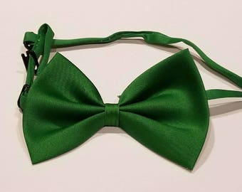 Green bow tie for dog or cat