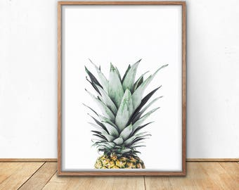 Pineapple, Digital Download, Digital Prints, Best Friend Gift, Wall Art, Pineapple Decor, Tropical, Art Print, Printable, Photography,