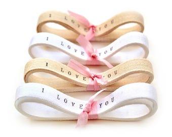 Wedding Favors Personalized Ribbon - 10 yards / Custom Ribbon , personalised ribbon , twill tape , twill ribbon i love you ribbon