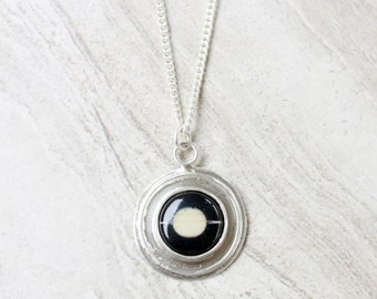 Saturn Planet Necklace//Sterling Silver//Science Gift