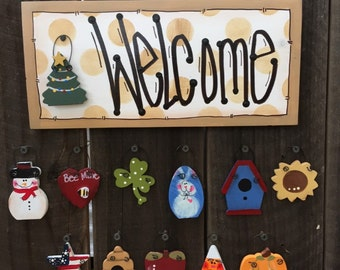 """Mini Welcome Sign """"brown"""""""