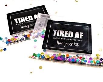 Hangover Kit, Hangover Party Bag, Bachelorette Party, Survival Kit  Favor, Custom, Custom Gift Packaging, Favor Bag