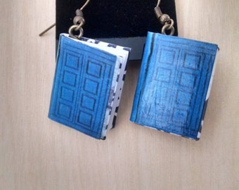 River Song's Journal Earrings / Gift for Her / Whovian Gift / Book Jewelry / Book Earrings / Doctor Who Earrings / River Song Earrings / DW