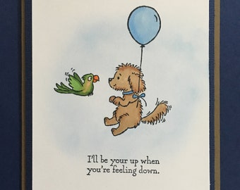 Friend card, Encouragement card, Card for anyone, Man, Women,Child, Fun card, Inspirational card, Caring, Thinking of you, Handmade greeting