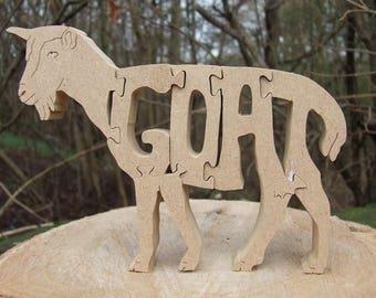 goat gift, goat ornament, gift for goat lover, home decor, farm gift, farmer gift, gift for him, animal lover gift,  goat decoration