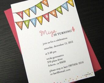 little celebration invitation