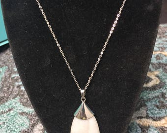 Seashell pendant on sterling silver chain