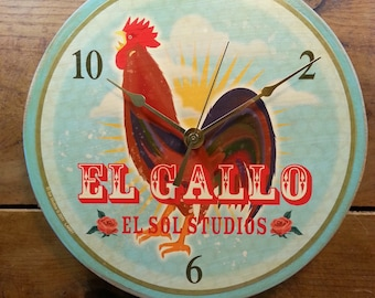 Loteria El Gallo Wall Clock