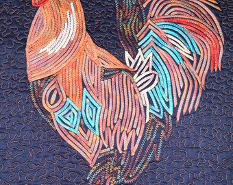 Digital Image of a Quilted Rooster