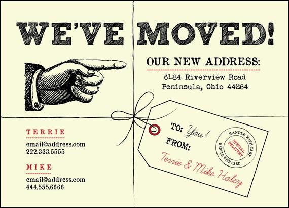 we u0026 39 ve moved postcards