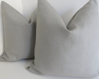Linen Gray Pillow Cover, Gray Pillows, Pillow, Accent bed pillows, Grey Pillow Covers, Gray Linen Fabric, Light Gray Linen Pillow Covers