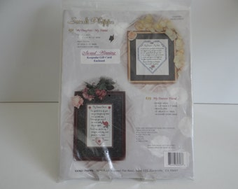 Sandi Phipps Counted Cross Stitch Kit - My Daughter My Friend #696 - Great Gift for Daughter