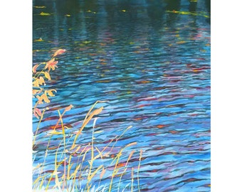Champlain Waters Giclee Fine Art Print of Original Watercolor Painting