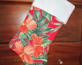 Hawaiian Christmas Stocking