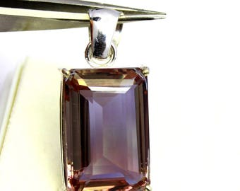 54.45Ct Certified Awesome Alexandrite Pendant 925 Solid Sterling Silver AX4010
