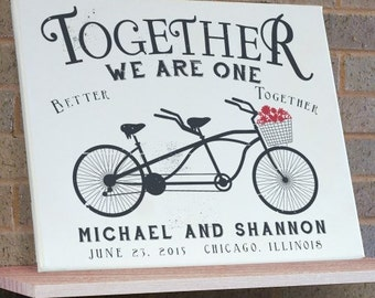 Personalized Together We Are One Wall Canvas -gfy9194496