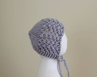 Ready To Ship - Sitter's Lace Bonnet - Lilac