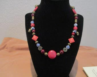 "Elegant Beaded Necklace, Inspired by Inara from ""Firefly"""