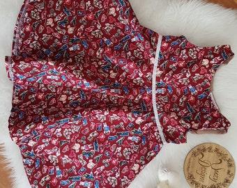 Maroon Print dress size 1
