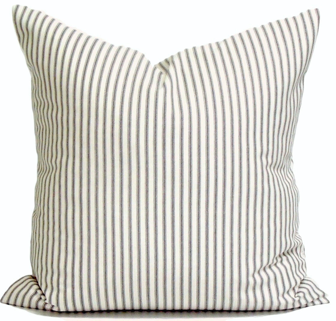 Ticking Stripe Pillow Covers French Ticking Decorative