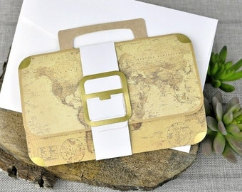 Awesome Boarding Pass Wedding Invitation (Suitcase) | Affordable Destination Invitations